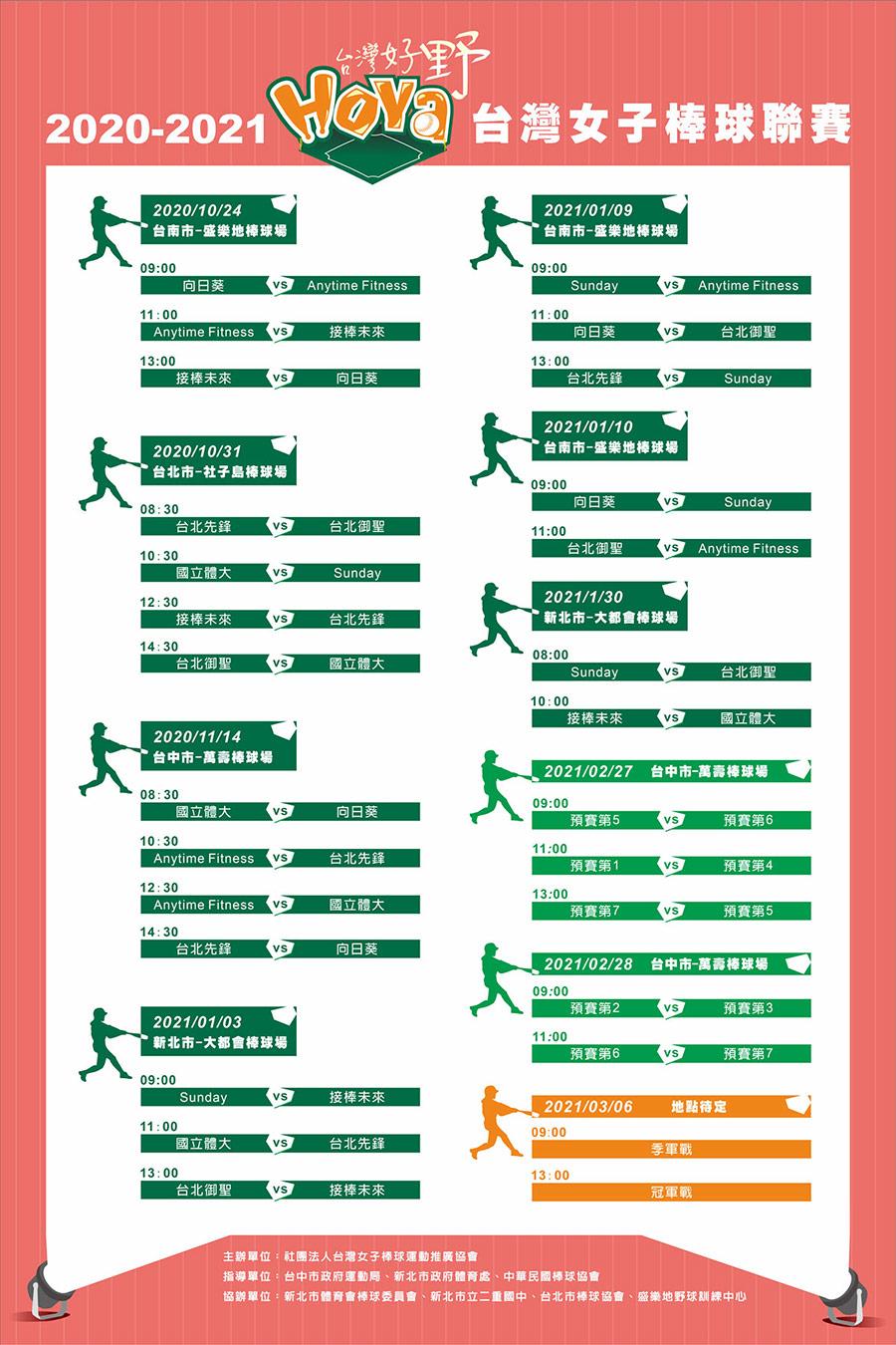 台灣聯賽賽程表
